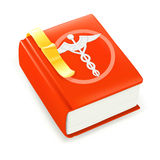 Medical Book. Isolated on the white Royalty Free Stock Photography