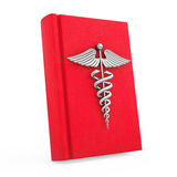 Medical Book with Silver Caduceus Symbol. 3d Rendering Stock Images