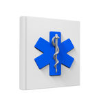 Medical Book with Star of Life Symbol Stock Photography