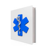 Medical Book with Star of Life Symbol Royalty Free Stock Photography