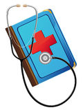 Medical book and stetoskop. Illustration Stock Photography