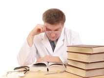 Medical book study Stock Image
