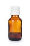 Medical bottle of brown color Stock Images