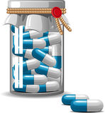 Medical Bottle Caps Royalty Free Stock Image