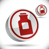 Medical bottle 3d vector icon. Stock Photo