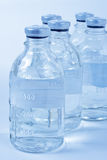Medical bottles. For infusions with physiologic saline Royalty Free Stock Photos