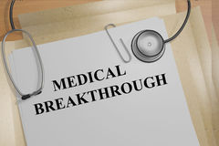 Medical Breakthrough concept Stock Image