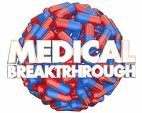Medical Breakthrough Research Finding Pills Medicine 3d Illustra. Tion Stock Images