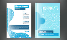 Medical Brochure Design Template. Flyer with inline medicine icons, Modern Infographic Concept for annual report. Vector.  Royalty Free Stock Photos