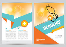 Medical Brochure Flyer Layout Template, A4 Size Stock Photo