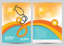 Medical Brochure Flyer Layout Template, A4 Size. Vector Medical Brochure Flyer Layout Template, A4 Size Stock Photography