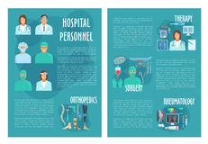 Medical brochure for hospital personnel doctors Royalty Free Stock Photo