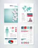 Medical Brochure Infographics Stock Photography