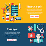 Medical brochure template for web or print. Royalty Free Stock Photos