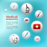 Medical bubble infographic Royalty Free Stock Images