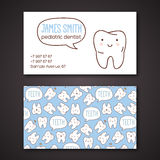 Medical business or visiting cards for dentist. Royalty Free Stock Photography