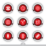 Medical button series Royalty Free Stock Photography