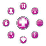 Medical button set Stock Image
