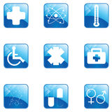 Medical button set Royalty Free Stock Photography