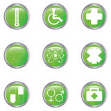 Medical button set Stock Images