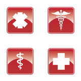 Medical button set . Stock Photography