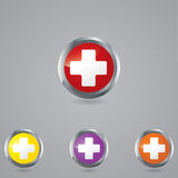 Medical button set . Royalty Free Stock Photos