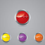Medical button set . Stock Images