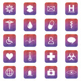 Medical button set. Vector illustration. Stock Photography
