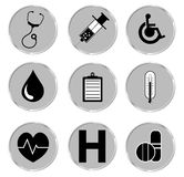 Medical button set. Vector illustrator EPS. Stock Photo