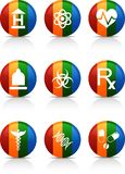 Medical   buttons. Stock Photos