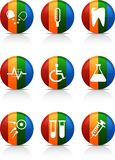 Medical   buttons. Royalty Free Stock Photo