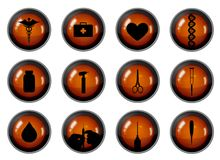 Medical Buttons Stock Images