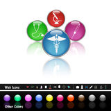 Medical Buttons. Image of various colorful medical web buttons Stock Image