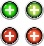 Medical Buttons. A Colourful Set of Medical Buttons Royalty Free Stock Images