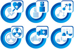 Medical buttons Royalty Free Stock Photography