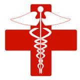 Medical caduceus. Icon, vector illustration Stock Image