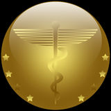 Medical Caduceus. Illustration of the symbol of Caduceus, commonly used by the medical profession stock illustration