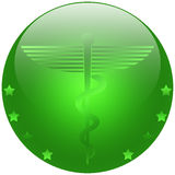 Medical Caduceus. Illustration of the symbol of Caduceus, commonly used by the medical profession Royalty Free Stock Photo