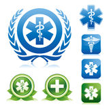 Medical caduceus and asclepius sign Stock Photography