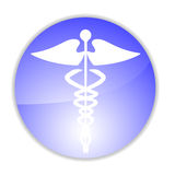 Medical caduceus charm. Vector illustration stock illustration