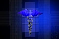 MEDICAL CADUCEUS SIGN Stock Image