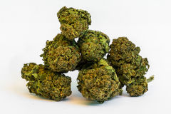 Medical Marihuana. Medical Cannabis buds, healthcare marihuana Royalty Free Stock Photography