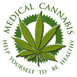 Medical Cannabis-emblem Stock Photos