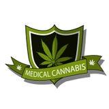 Medical Cannabis-emblem Stock Images
