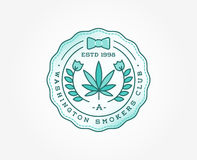 Medical Cannabis Marijuana Sign or Label Template in Vector. Can Stock Photography