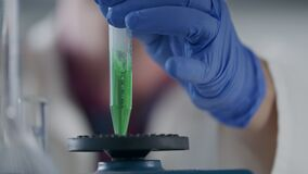 Scientist performing Medical cannabis research in a laboratory