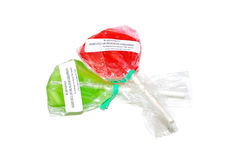 Medical Cannbis Lollipops. Two flavored lollipops containing edible medical cannabis Stock Photo