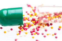 Medical capsules Royalty Free Stock Photo