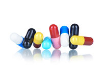 Medical capsules Royalty Free Stock Photos