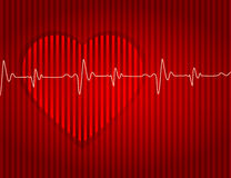 Medical-card-red-heart-background-effect-dented Royalty Free Stock Photography